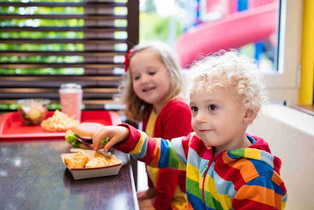 toddlers fast food