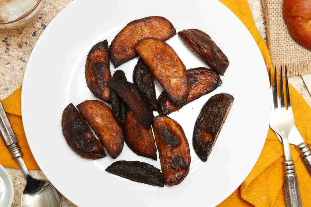 Maillard reaction burnt potato wedges