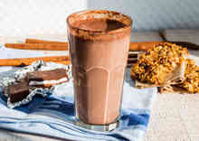 healthy smoothies with cocoa powder