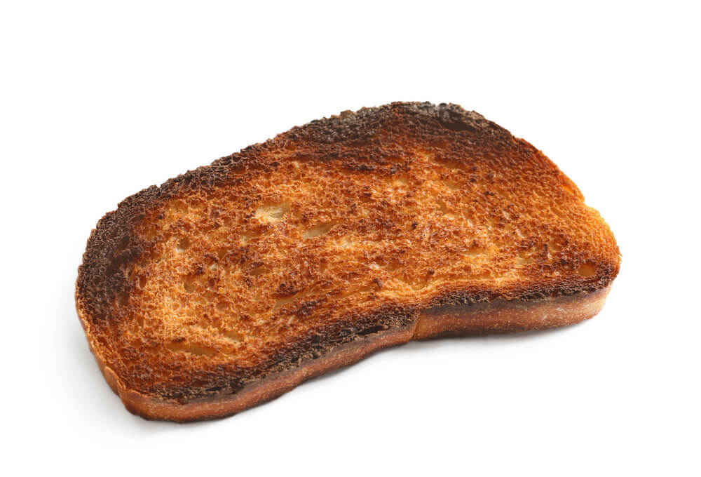 dark brown toast