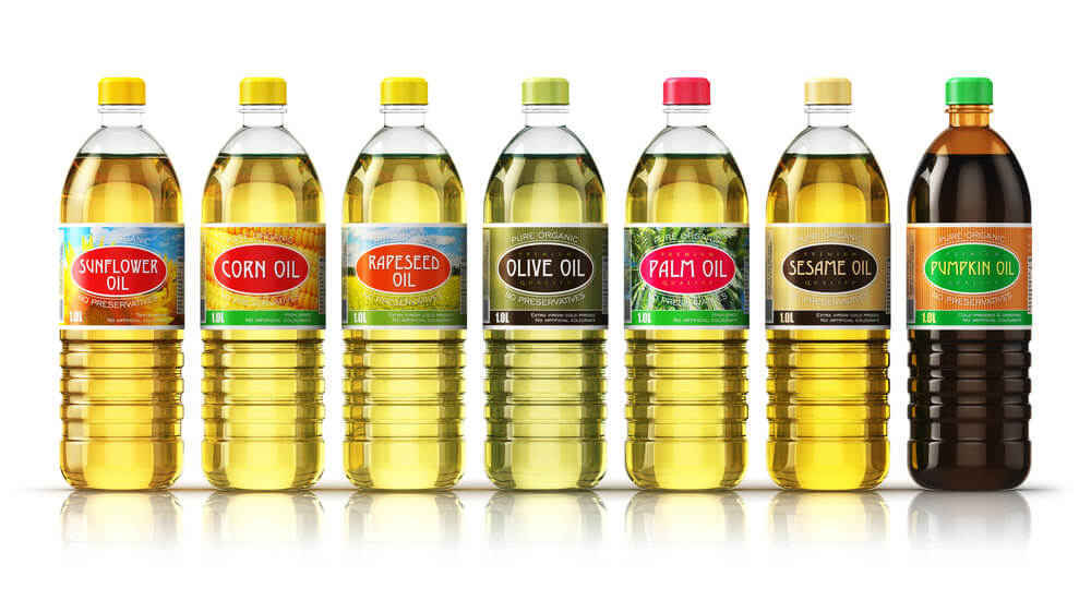 cooking oil in bottles
